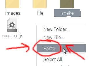 Choosing Paste